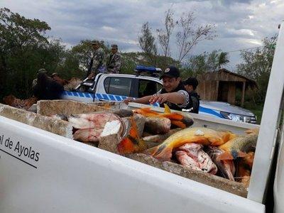 En plena veda, caen 500 kilos de pescado en Ayolas