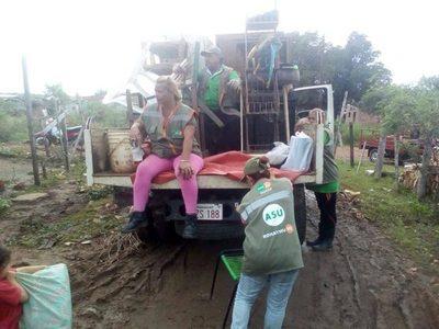 Río Paraguay sube y genera más damnificados en Asunción