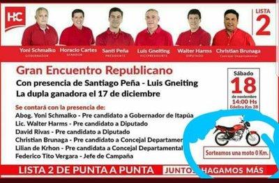 Moto por voto en Itapúa