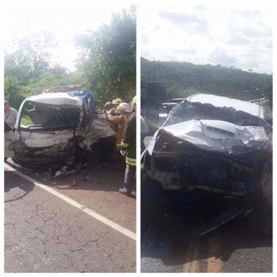 Triple choque con saldo fatal en Caacupé
