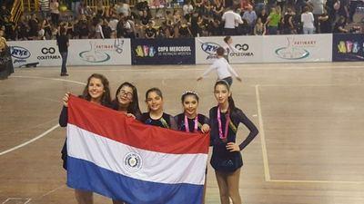 Escuela de CDE triunfa en copa Mercosur de Patinaje Artístico