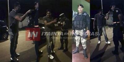 BORRACHO Y PREPOTENTE ESCOLTA DE AFARA AMENAZA A POLICÍAS.