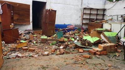 Cifra de afectados por temporal sube a más de 1.650 familias en tres departamentos