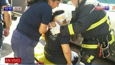 Accidente de tránsito dejó una mujer herida