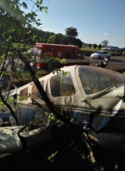 Accidente de avioneta deja dos heridos