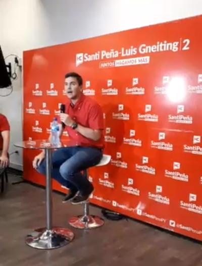 """Santiago Peña habla de que su victoria ya es """"irreversible"""""""