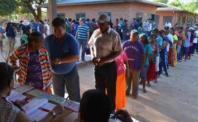 Termina jornada electoral con mucho calor en Boquerón