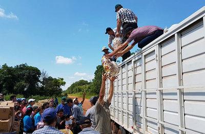 Repartirán víveres en colonia de Amambay por exigencia del EPP