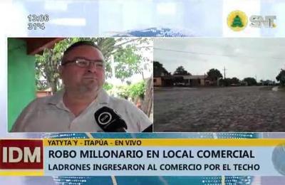 Millonario robo en un local comercial en Itapúa
