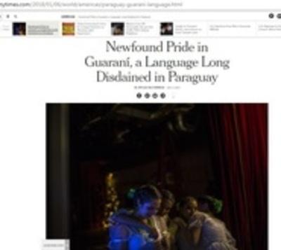 New York Times resalta la vigencia del idioma guaraní