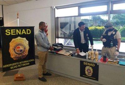 Detienen a brasileño con droga en el Pettirossi