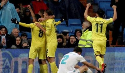 Villarreal tumba al Madrid con un gol sobre en el epílogo