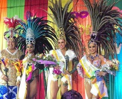 Joven asuncena es reina del Carnaval Guaireño 2018