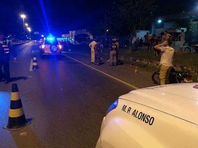 Carrera de motos deja un fallecido en Roque Alonso
