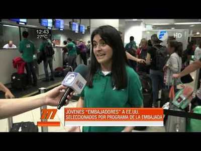 Intercambio cultural: jóvenes paraguayos viajan a EE.UU.