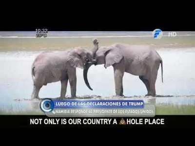 """""""País de mierda"""": Namibia responde a Donald Trump"""
