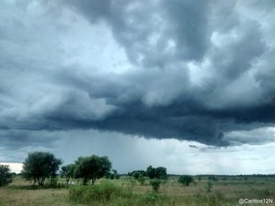 Alerta de tormentas para once departamentos