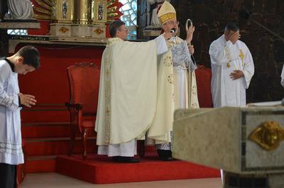 Con rezo del Ángelus inician novenario a patrono de CDE