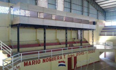 Reparan polideportivo de Juan León Mallorquín