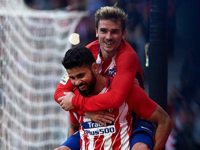 Kevin Gameiro y Diego Costa le dieron el triunfo al Atlético Madrid