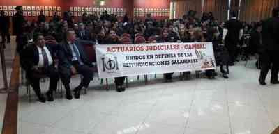 Actuarios judiciales irán a huelga