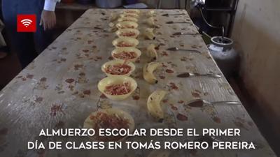 ALMUERZO ESCOLAR DESDE EL PRIMER DÍA DE CLASES EN TOMÁS R.PEREIRA
