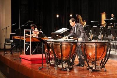 Presentación de la OSN con concierto de marimba
