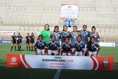 Albirroja Femenina Sub 17 iguala ante Chile
