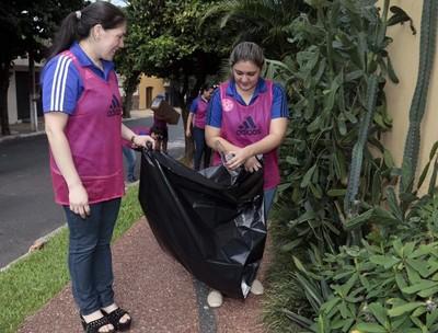 Funcionarios de la APF juntos contra el dengue