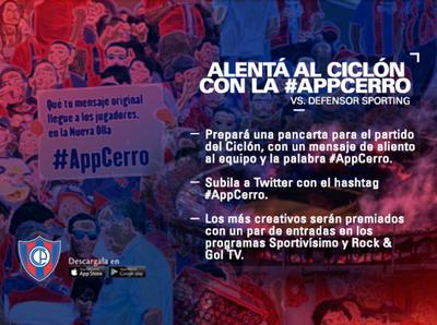 La #AppCerro regala entradas a sus usuarios