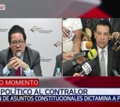 Comisión de Diputados falla a favor del juicio político al contralor