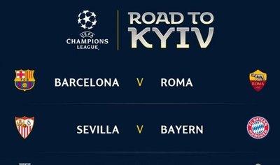 Los cruces de cuartos final de la Champions League