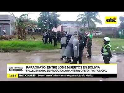 Paraguayo, entre los ocho muertos en cárcelde Bolivia