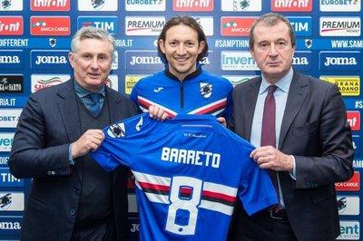 Barreto renueva con la Sampdoria