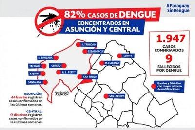 Confirman 9 muertes por dengue y aumenta riesgo de epidemia nacional