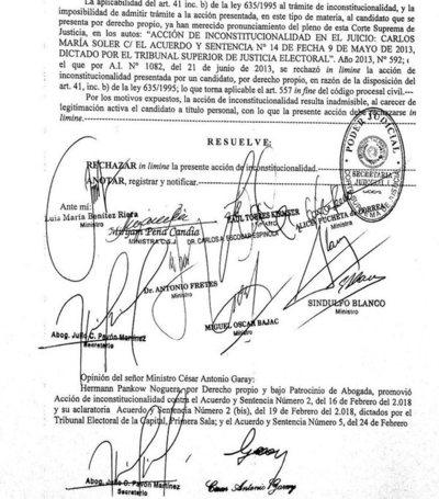 La Corte debe rechazar acciones contra candidatura de HC, afirman