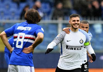 Inter de Milan apabulló a la Sampdoria