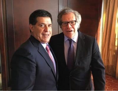 Titular de la OEA se reúne esta tarde con Cartes para evaluar crisis política