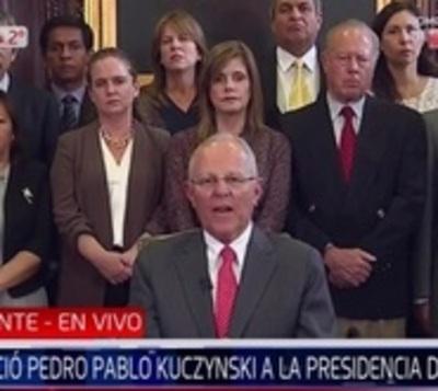 Confirmado: Pedro Pablo Kuczynski dimite a la presidencia del Perú