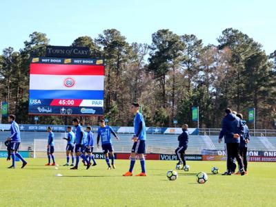 Paraguay ante Estados Unidos, en un amistoso