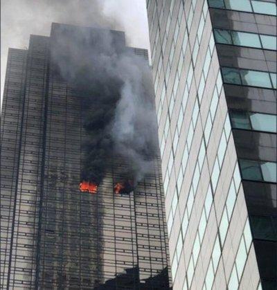 Se registra un incendio en la Torre Trump