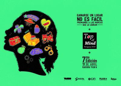 Top of Mind 2018: darán a conocer las marcas más recordadas en Paraguay