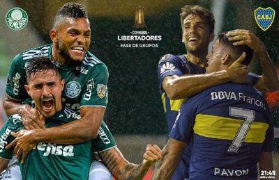 Palmeiras recibe a Boca Juniors por el Grupo H
