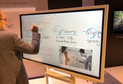 Samsung Flip, la pizarra que hará más interactiva la reunión o la clase