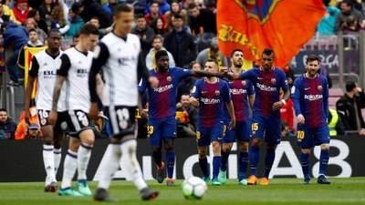 Barcelona vence al Valencia tras frustración en la Champions