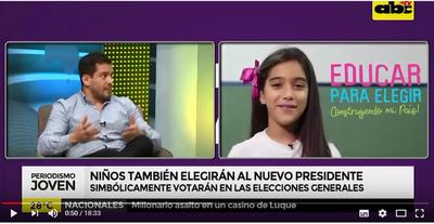 Niños también votarán al próximo Presidente