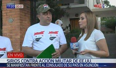 Sirios en Paraguay se manifiestan pidiendo paz