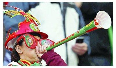 Instalarán una vuvuzela gigante para celebrar los goles de Rusia