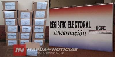 LLEGARON INSUMOS ELECTORALES PARA EL DOMINGO.