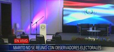 Marito hizo el vacío a los observadores internacionales